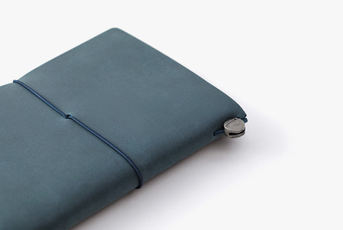 Passport Sized Traveler's Notebook in Blue | Blue Leather Cover and Starter Kit