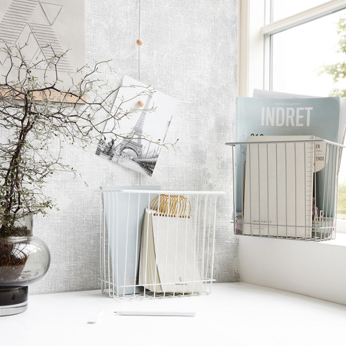 Monograph Small Wire Baskets in Grey or White