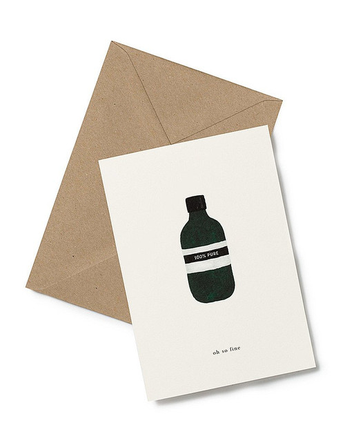"""Let someone know you care with the """"you're so fine"""" Greeting Card from Kartotek Copenhagen, blank interior, comes with envelope"""