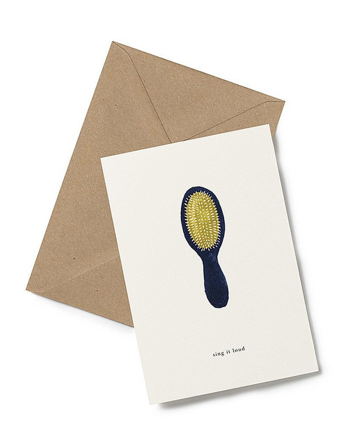 Sing it Loud! Greeting Card from Kartotek Copenhagen, blank interior, comes with envelope
