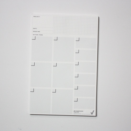 The Project planner pad will help you schedule your project and get shit done.