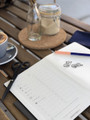 A styled shot of the Bullet Journal in action. It's easy to stay organised if you make it easy to manage day to day