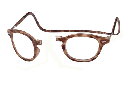 Clic Vintage Oval in Light Demi-Tortoise Custom