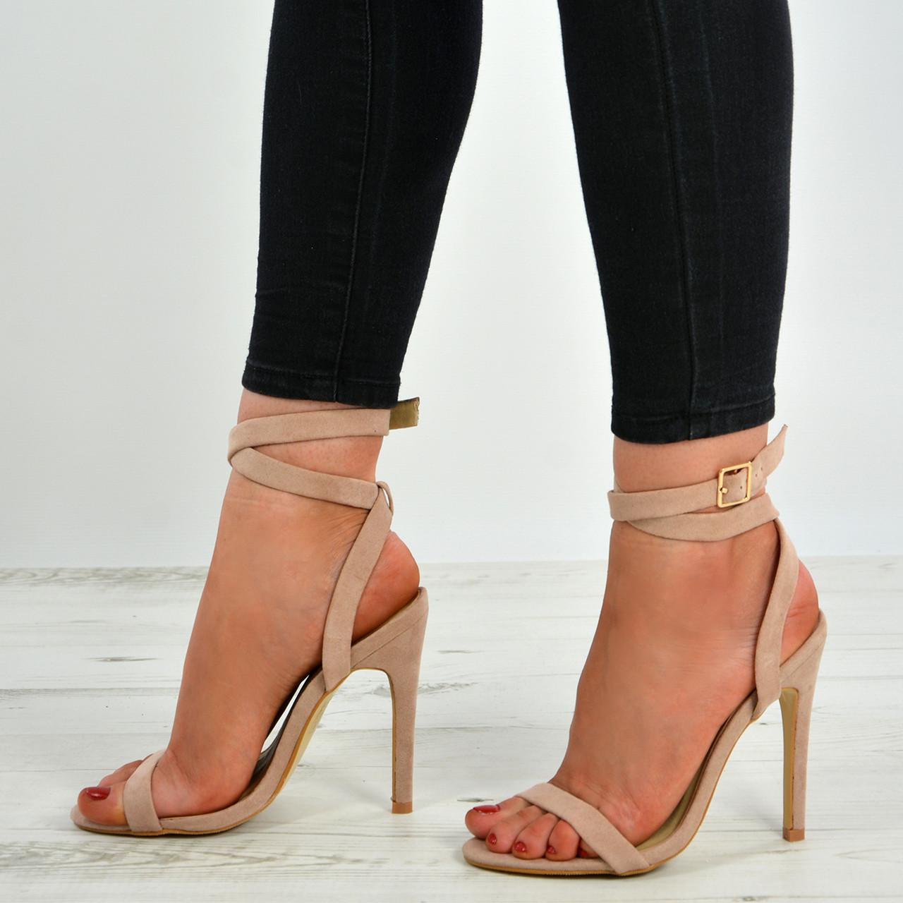 4fb0714204d Allie Ankle Strap Nude Stiletto Sandals