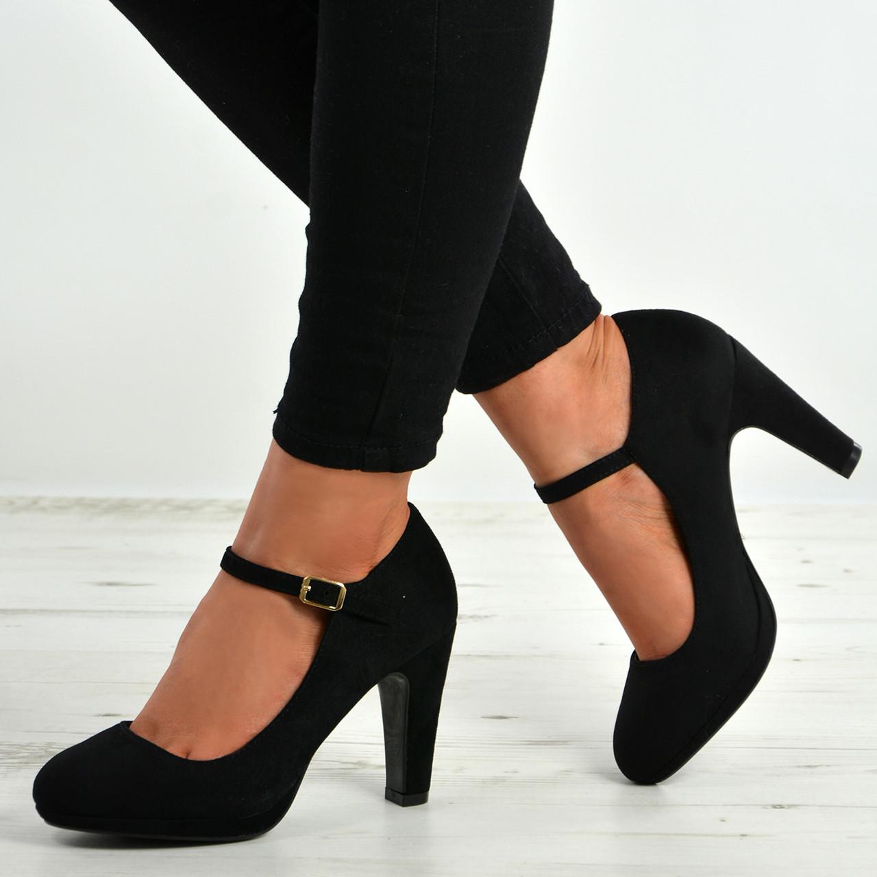 Aurora Black Block Heel Pumps