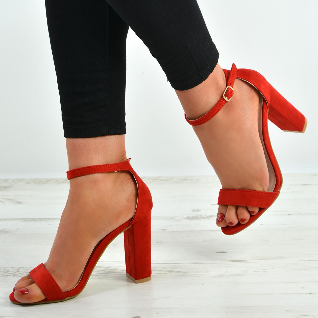55996e9097d3bd Cashmere-01 Red Block Heel Sandal