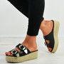Kendal Black Espadrille Flatform Sandals