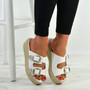 Kendal White Espadrille Flatform Sandals