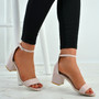 Olivia Pink Ankle Strap Sandals