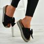 Alanya Black Pearl Flatform Sandals