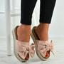 Alanya Pink Pearl Flatform Sandals