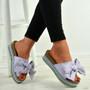 Alanya Purple Pearl Flatform Sandals