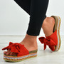 Alanya Red Pearl Flatform Sandals
