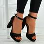 Payton Black Ankle Strap Sandals