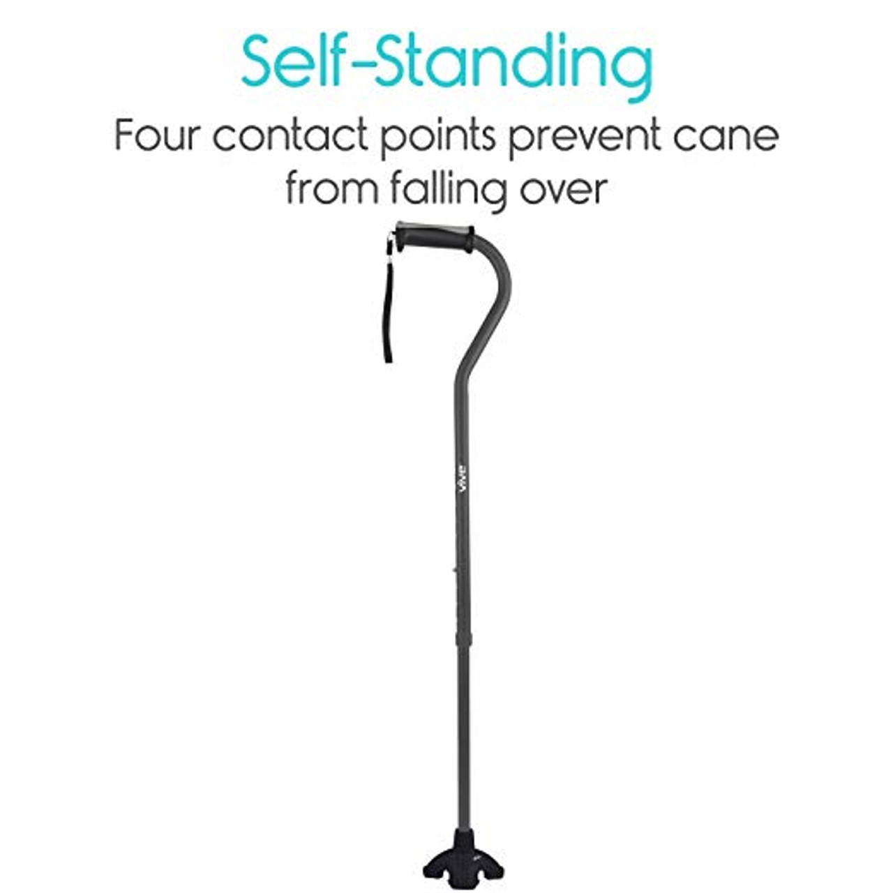 """Self Standing Cane Tip for 3/4"""" & 7/8"""" Shaft"""