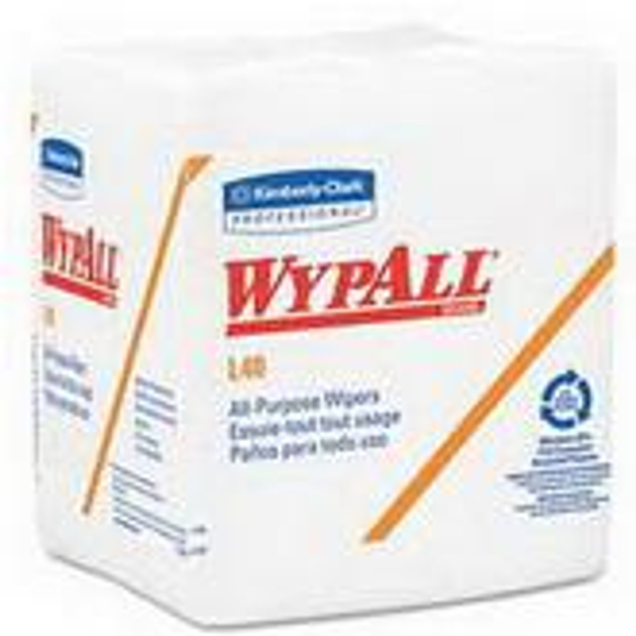 "Wypall L40 Wiper 12-1/2"" x 13"", White"