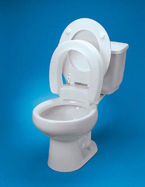 Elevated Toilet Seat Elongated Hinged