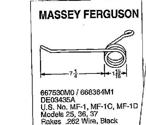 Massey Ferguson steel rake teeth tooth 25 36 37 66836M1