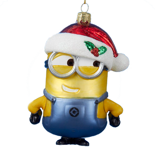 despicable me minion glass christmas ornament - Minion Christmas Ornament