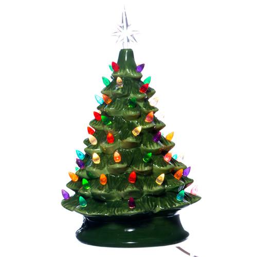 light up ceramic christmas tree - Vintage Ceramic Christmas Tree With Lights