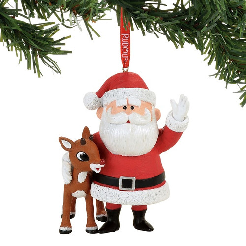 rudolph and santa ornament - Rudolph And Friends Christmas Decorations