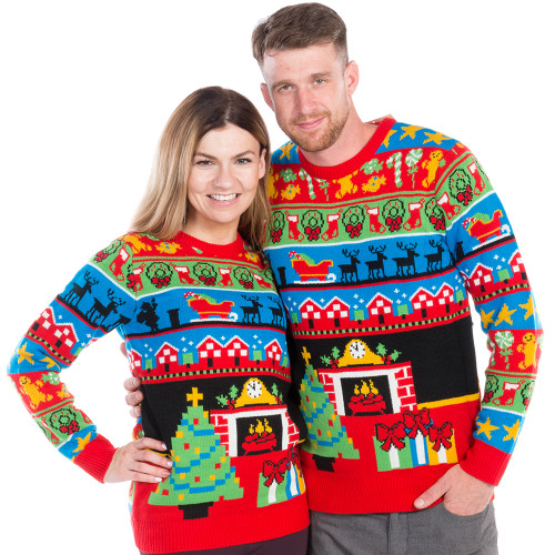up on the rooftop ugly christmas sweater worlds best - How The Grinch Stole Christmas Sweater