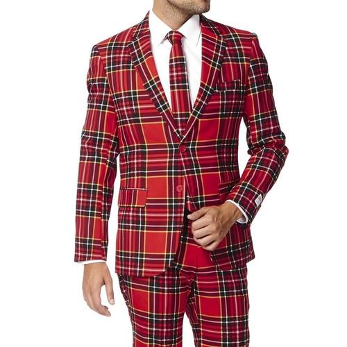 lumberjack plaid christmas suit close - Christmas Jackets