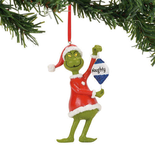 how the grinch stole christmas naughtynice ornament