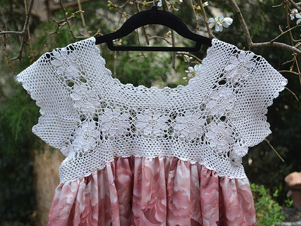 Crochet Lace Bodice Dress