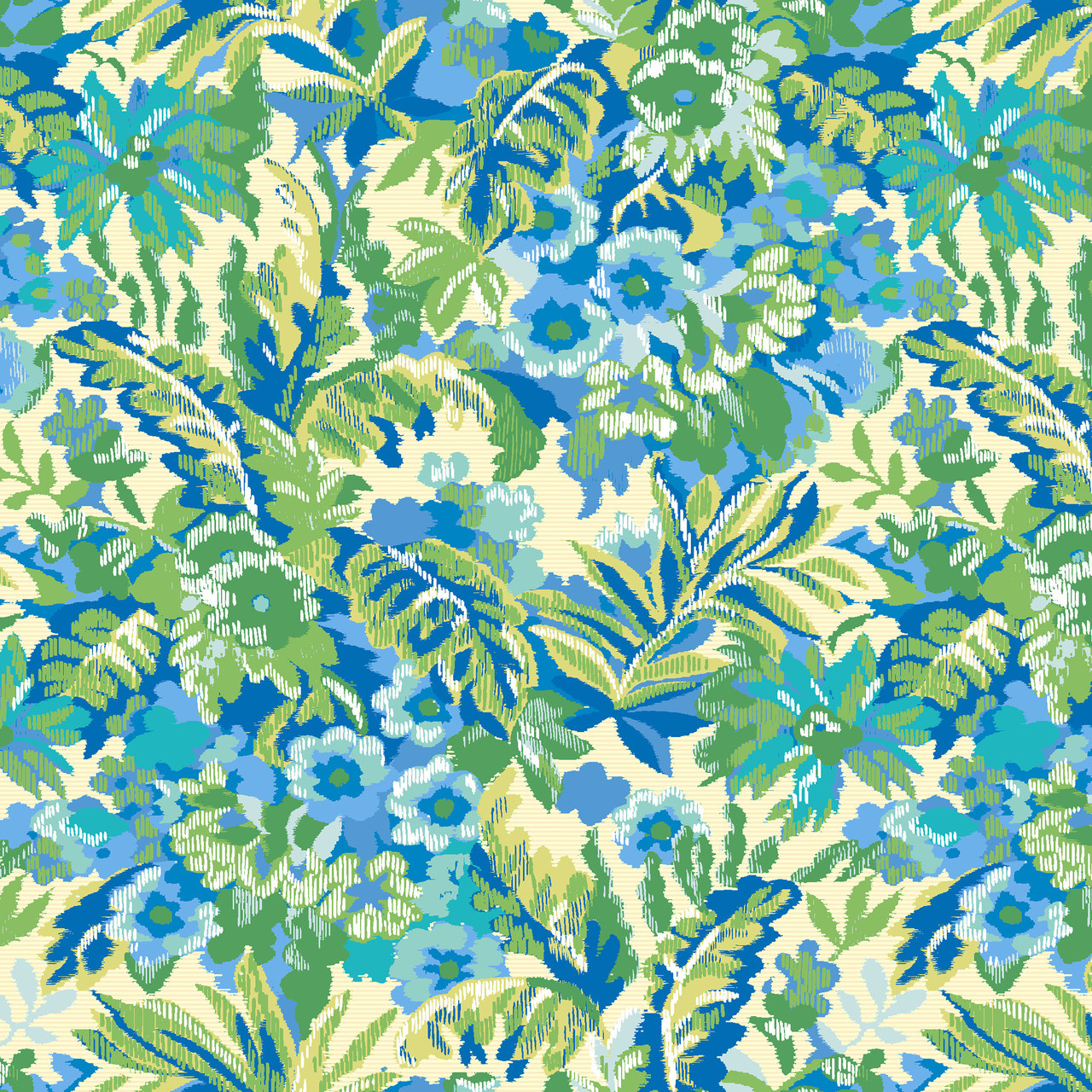 Garden floral custom printed fabric by the yard the for Outdoor fabric by the yard
