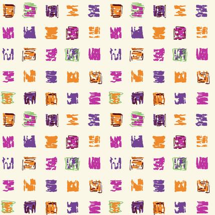 Hop Scotch Geometric Fabric Design (Picnic colorway)