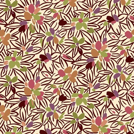 Flower Bed Fabric Design (Multi colorway)