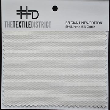 Belgian Linen Cotton Ground Fabric for Custom Fabric Printing