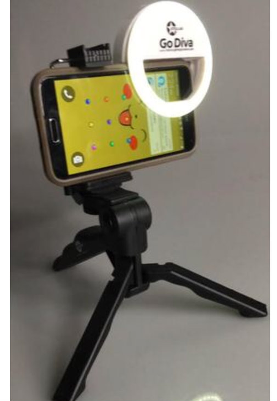 Bracket and Godiva Selfie  Ring Light does not come with this listing