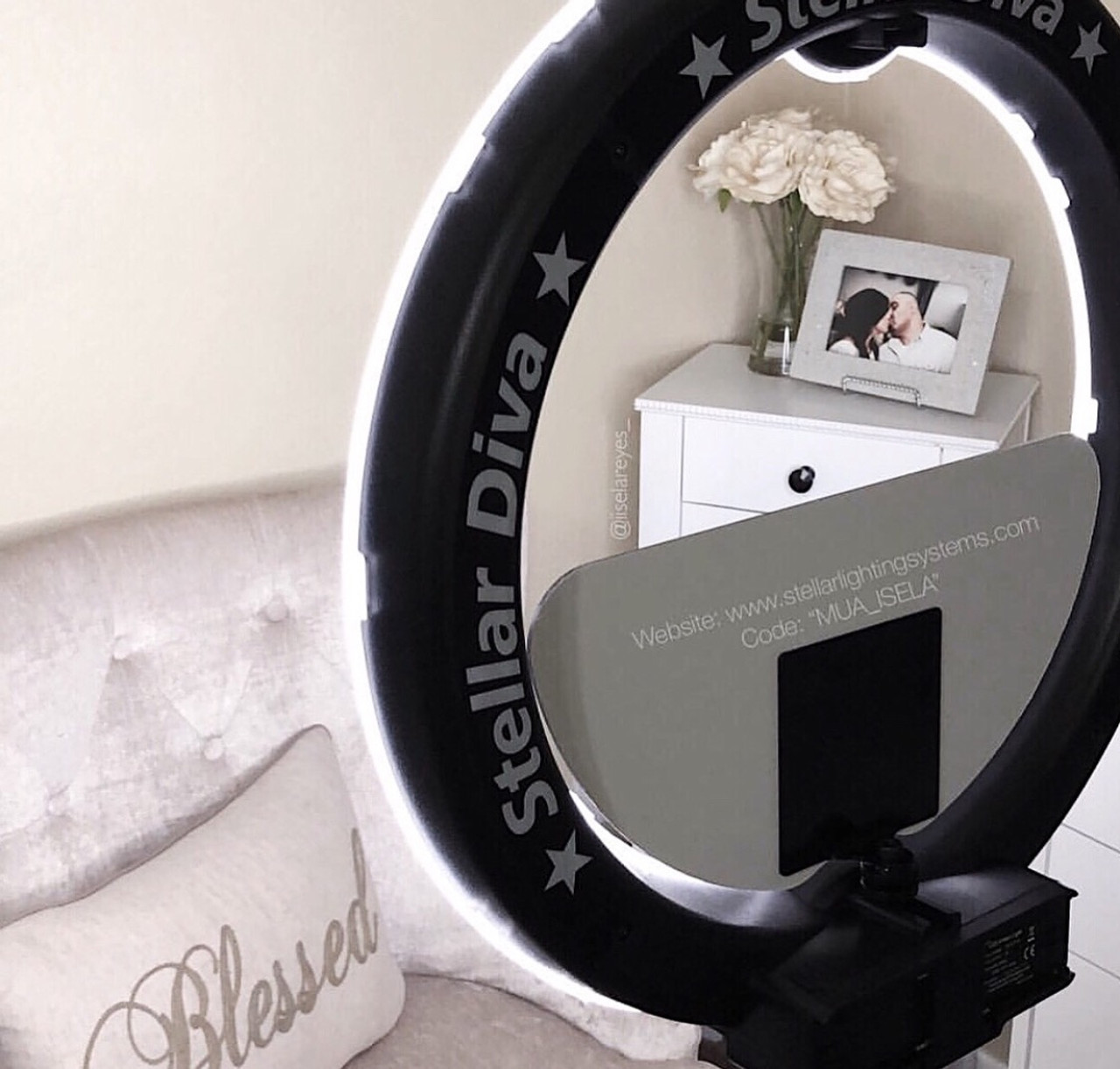 "Stellar XLED Diva  Ring Light 18"" + Linear Panel  Kit"