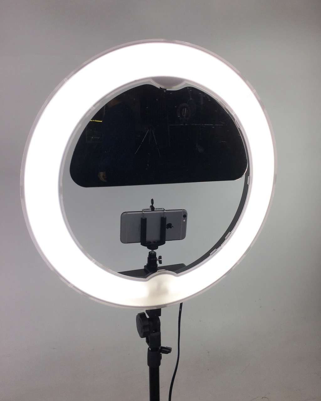 "Stellar Diva 18"" Ring Light cfl-r18 Kit - w/ Dimmer + Stand + Shotgun Microphone"