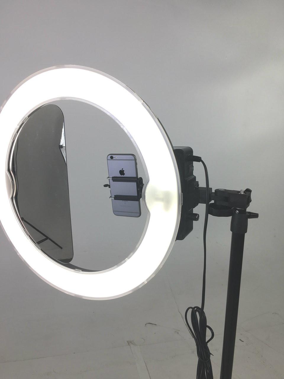 "Stellar Diva Ring Light 18""  Kit - w/ Dimmer + Stand + Lavalier Microphone"
