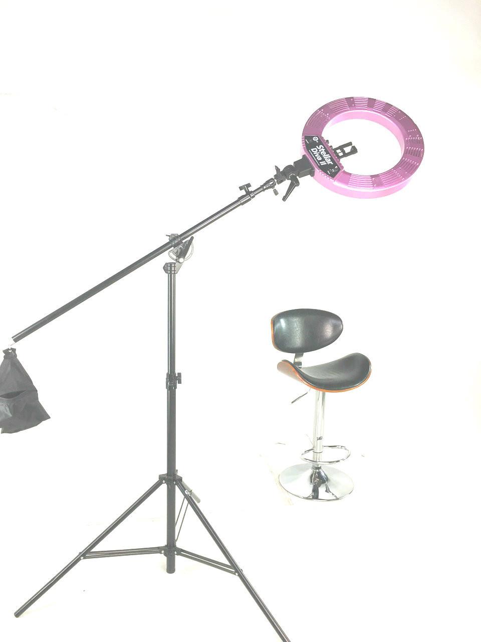 Stellar LED Diva Ring Light with Boom
