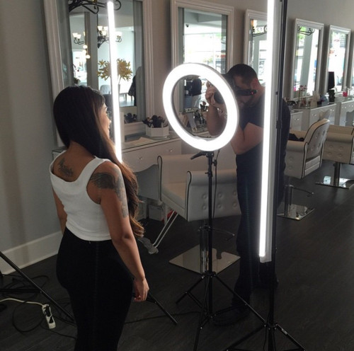 "Stellar 2 Linear Light Panel + 1 Diva Ring Light  18""  + 3 stands  Kit"