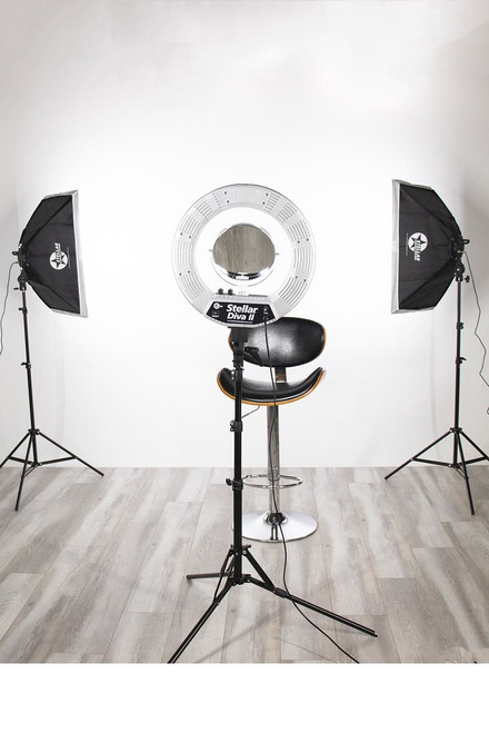 Stellar Gemini Photo/Video Kit + Stellar Diva II  Ring Light 18 Inch