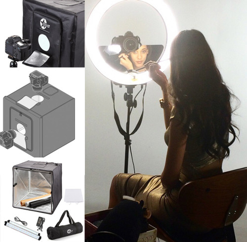 "Stellar Diva 18"" Ring Light + Stand+ Stellar Photo Cube"