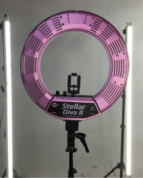 "Stellar Diva LED Ring Light ll  18"" + Linear Panel  Kit"