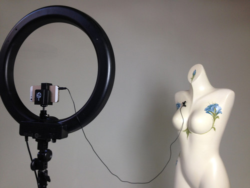 "Stellar Diva Ring Light 18""  Kit - w/ Dimmer + Stand + Lavalier Microphone"
