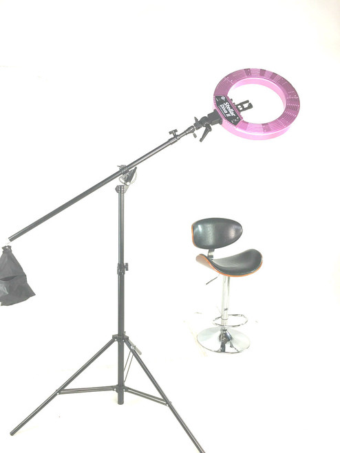 Stellar LED Diva Ring Light with Boom