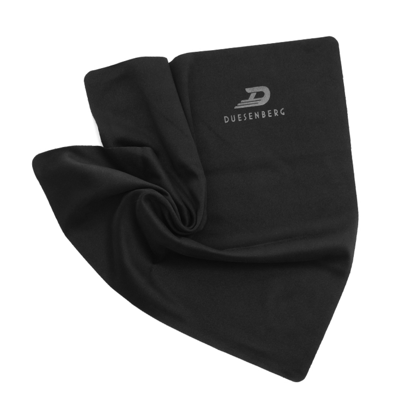 The Duesenberg polishing cloth.  Premium Microtex fabric measuring 30 x 30 cm. Perfectly suited for daily care and cleaning of your Instrument. Black. Duesenberg Quality.