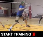Slide From Side to Side - Volleyball lateral Drill