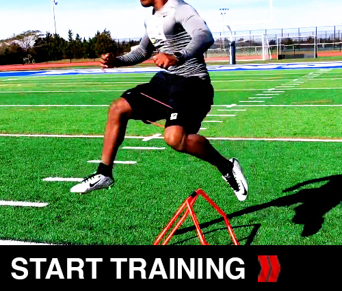 Football Speed Training Transition Hops