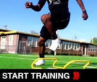 Hurdler Step Over Drill