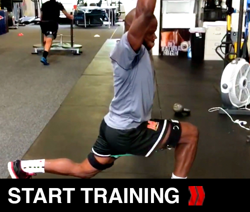 Kbands lunges and Overhead press
