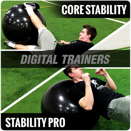 Stability Ball Digital Trainers